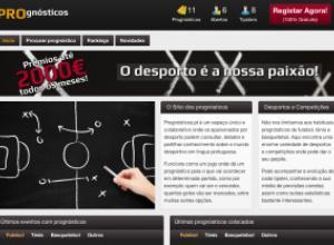 Screenshot do prognósticos.pt